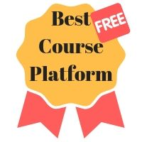 Best Free Course Platform - winner ribbon