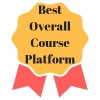 Best Overall Course Platform - winner ribbon