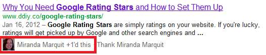 Google +1 example