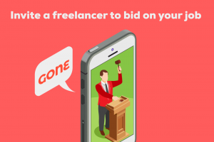 Invite a freelance designer to bid on your job