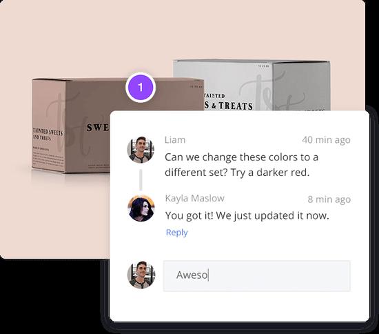 Penji designer feedback example