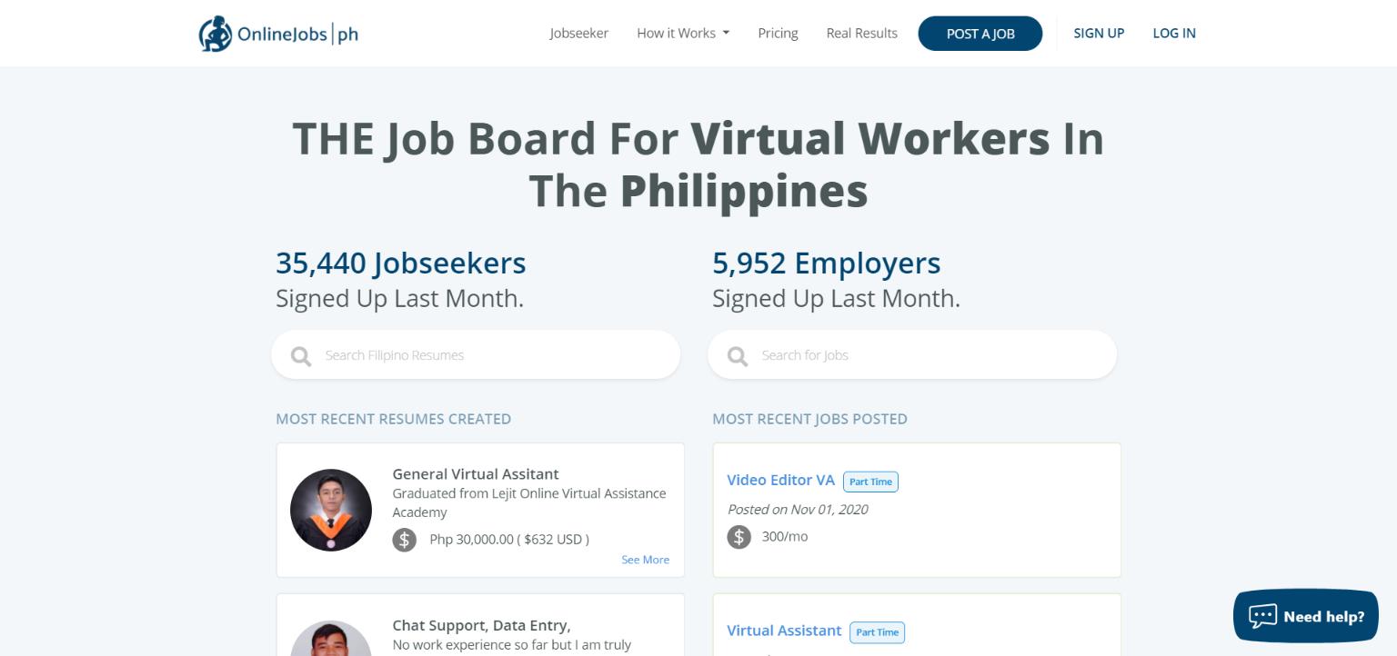 Best Freelance Websites - Onlinejobs.ph