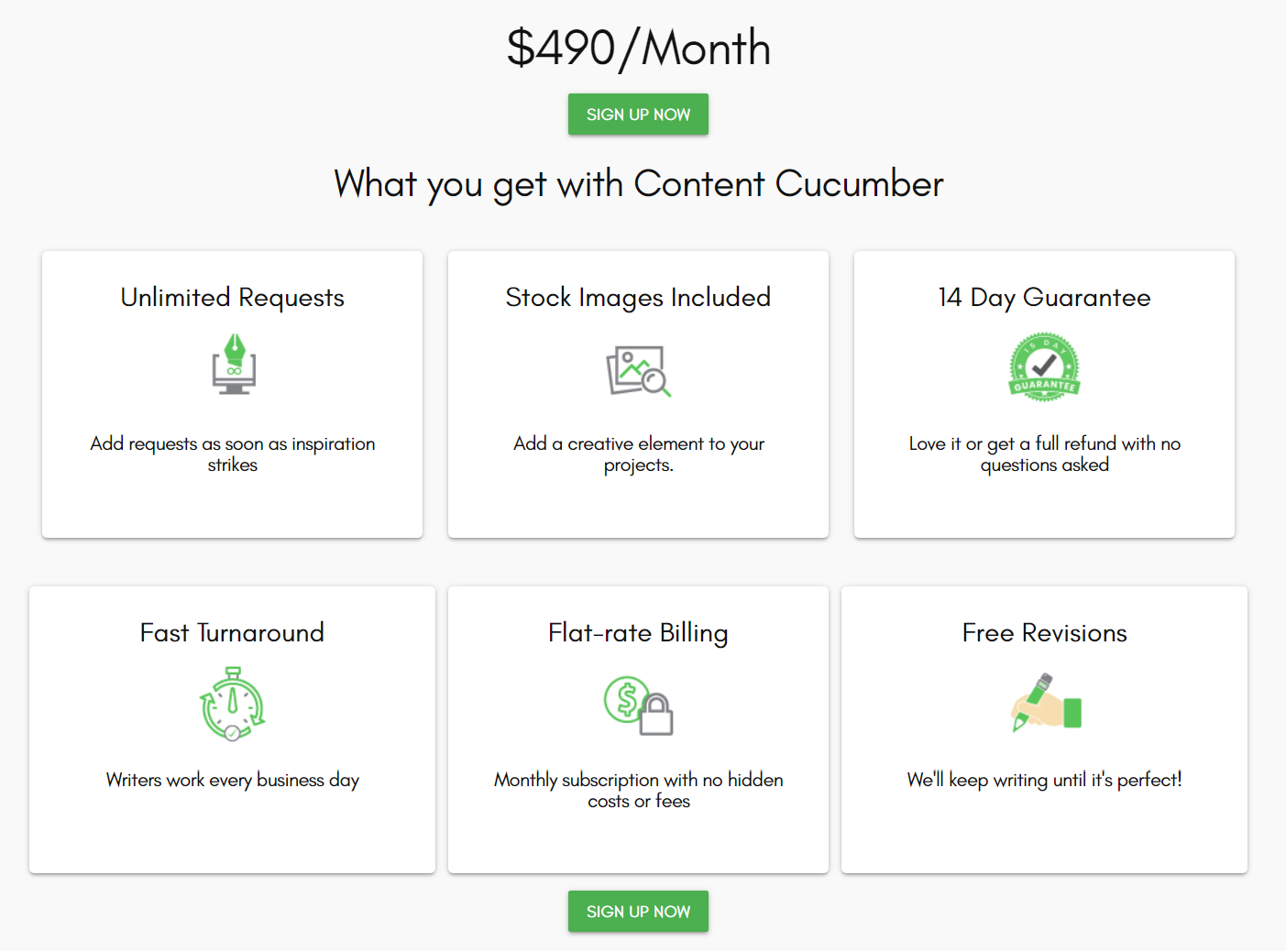 Content Cucumber Pricing