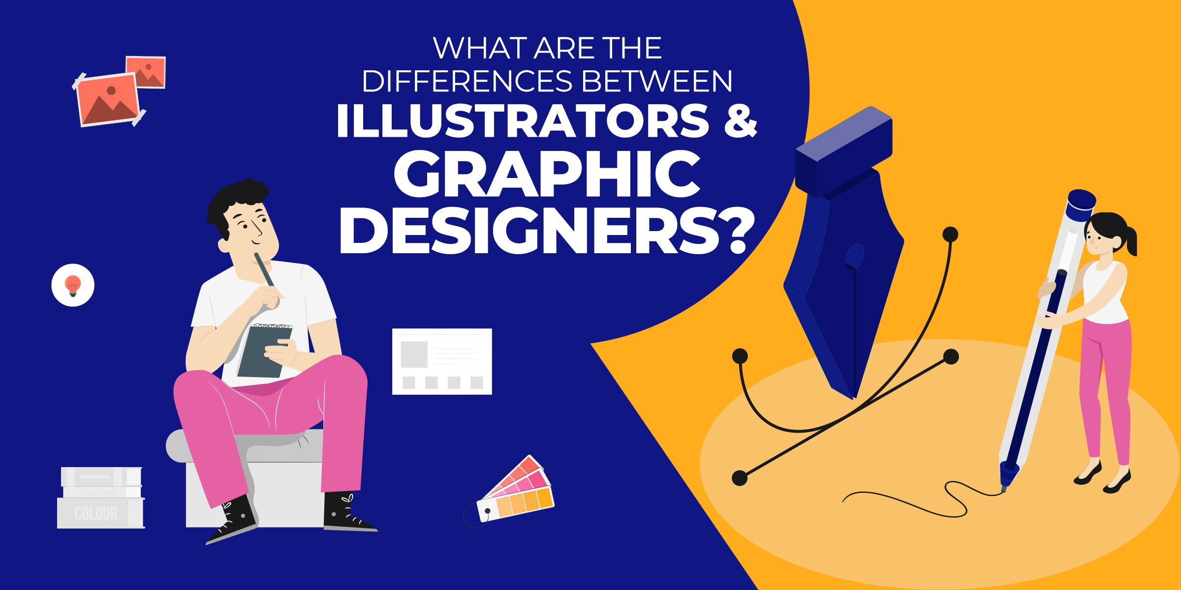 What are the differences between illustrators and graphic designers?