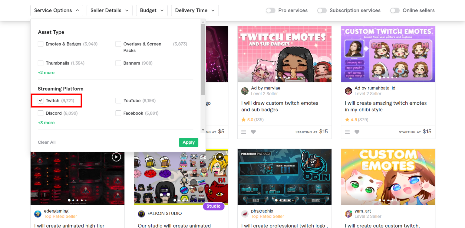 Fiverr Twitch - Graphics for Streamers