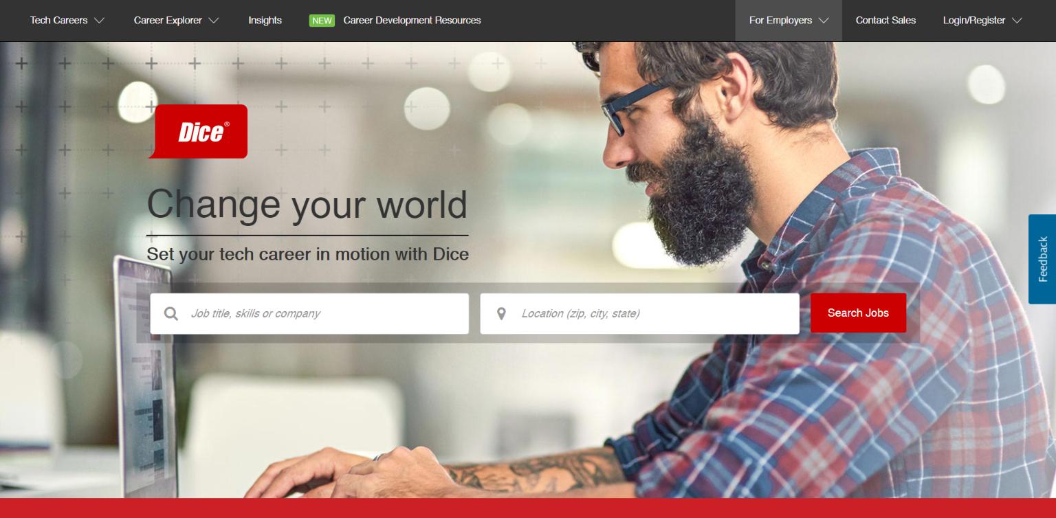 Freelance Websites for Developers - Dice