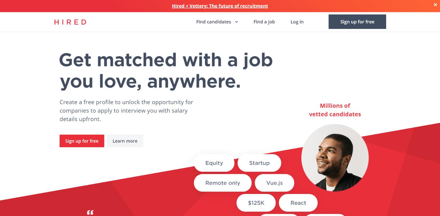 Freelance Websites for Developers - Hired