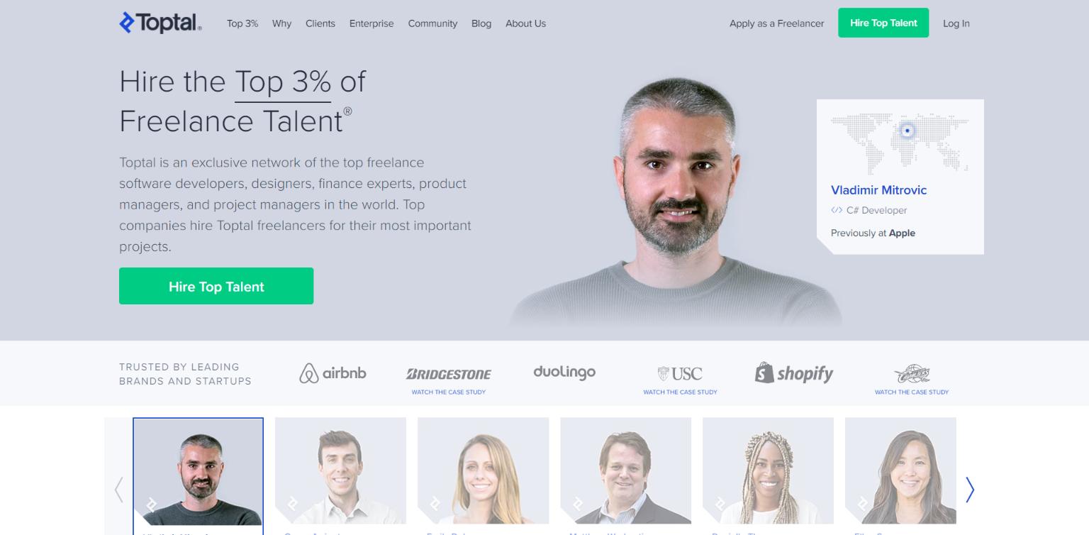Freelance Websites for Developers - Toptal