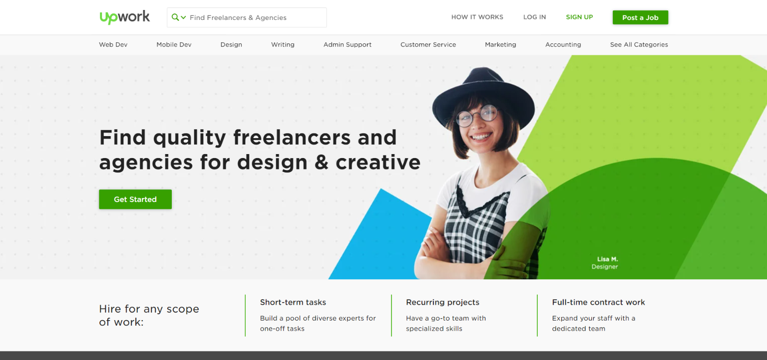 Freelance Websites for Graphic Design - UpWork
