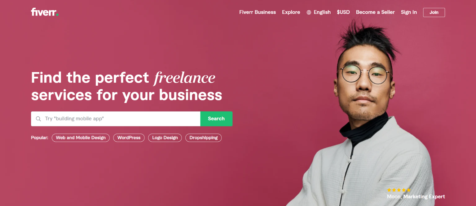 Best Freelance Websites for Marketing - Fiverr