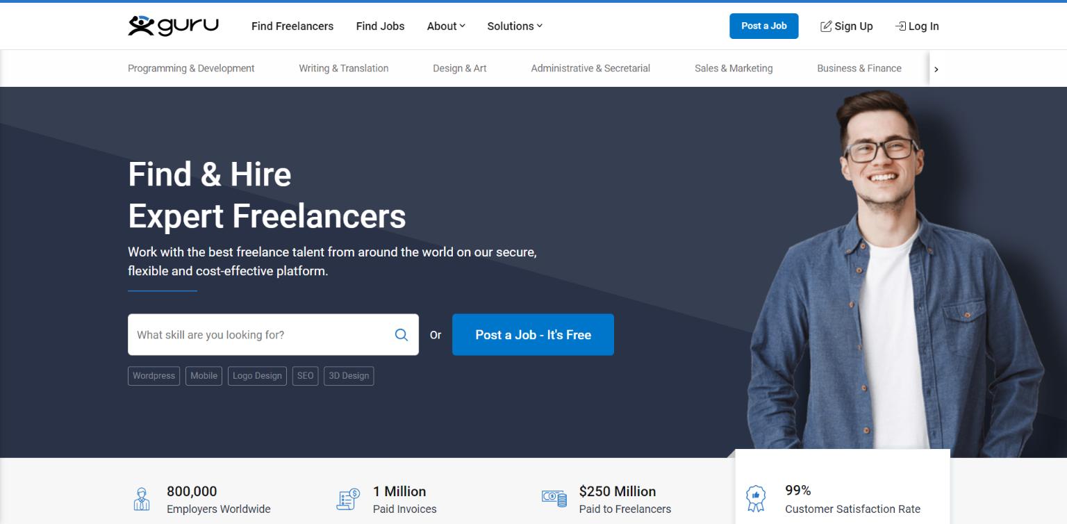 Freelance Websites for Writers - Guru
