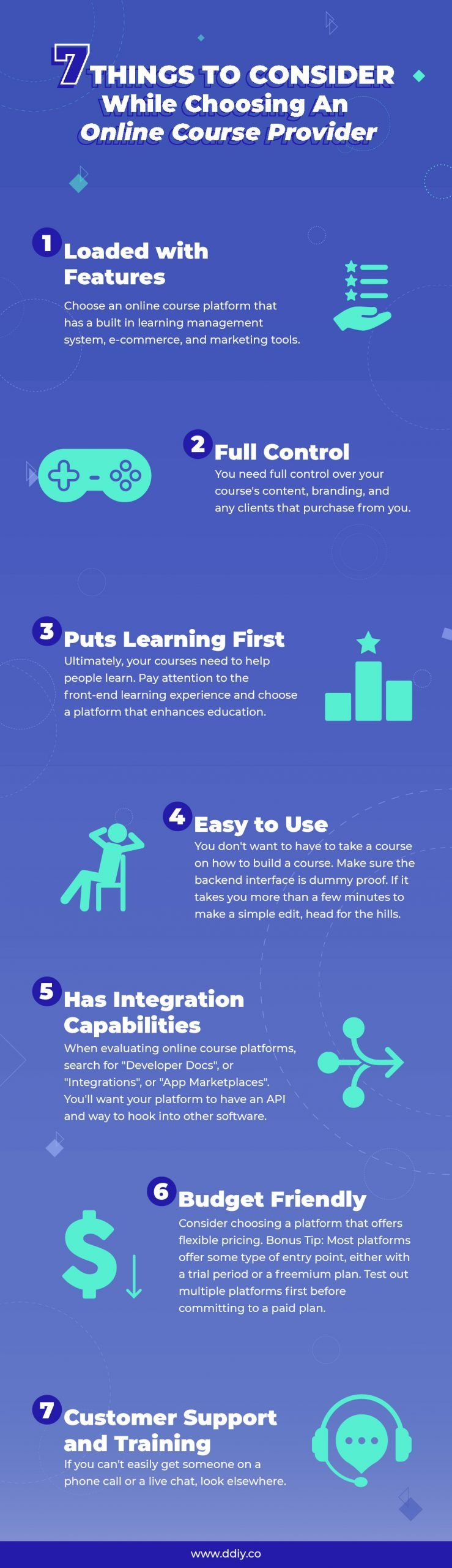 Online Course Comparison Guide Infographic