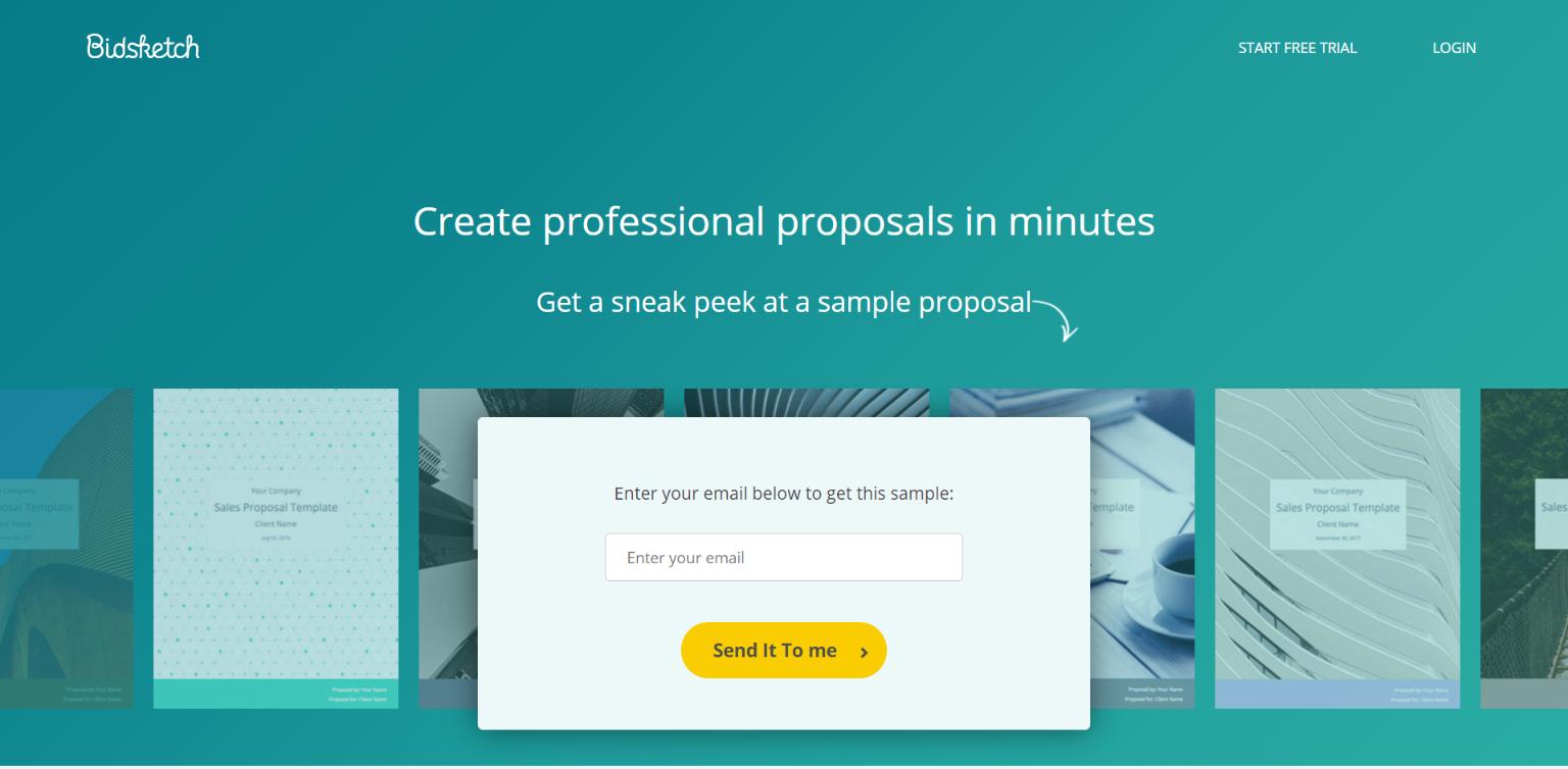 Online Proposal Software - Bidsketch