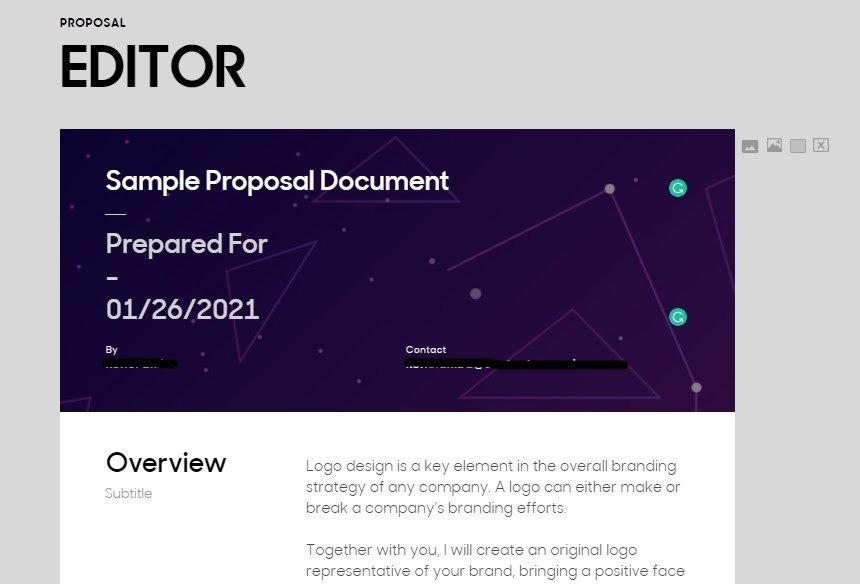 Prospero Proposal Editor