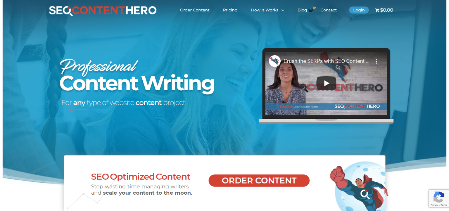 Best Blog Writing Services - SEO Content Hero