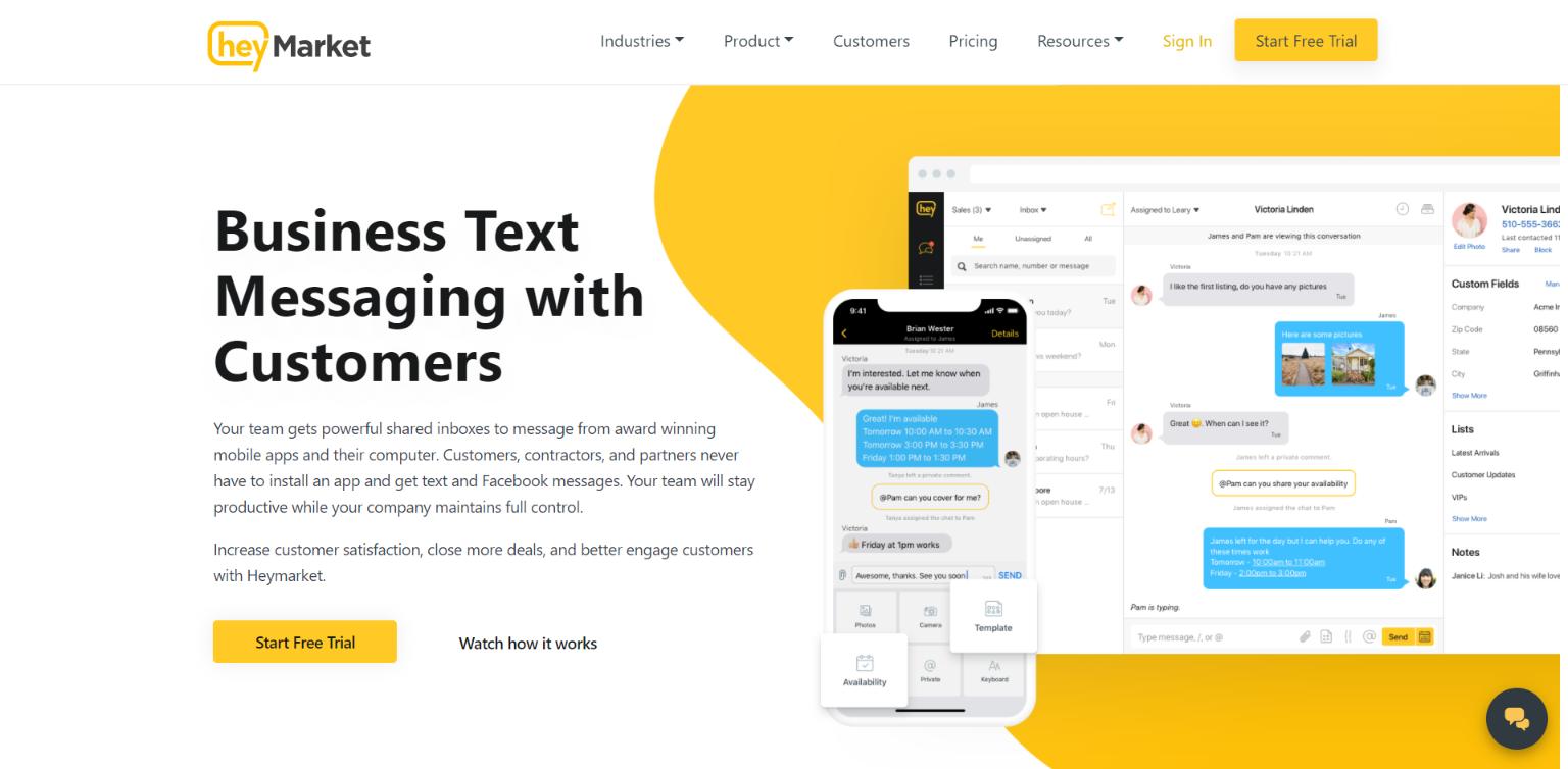 SMS Marketing Software - Heymarket