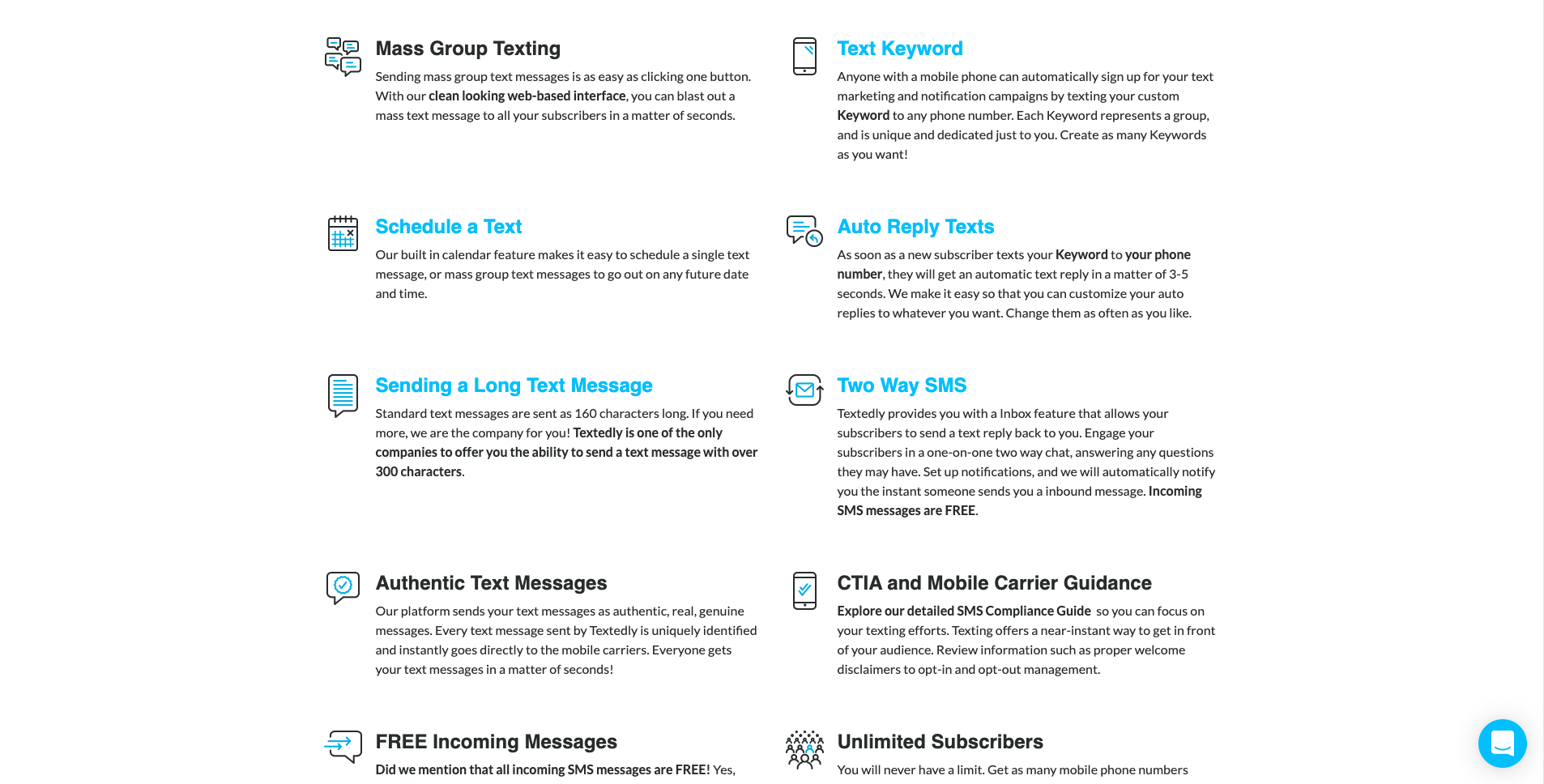 Textedly SMS Services