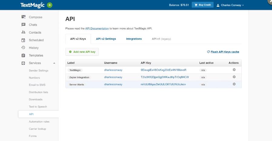 TextMagic Review - API
