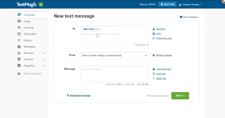 TextMagic Review - Send Text Message