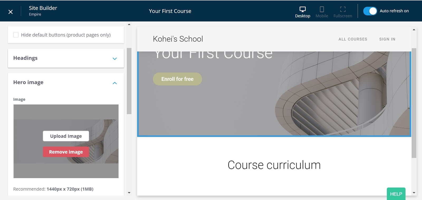 Thinkific Course Builder