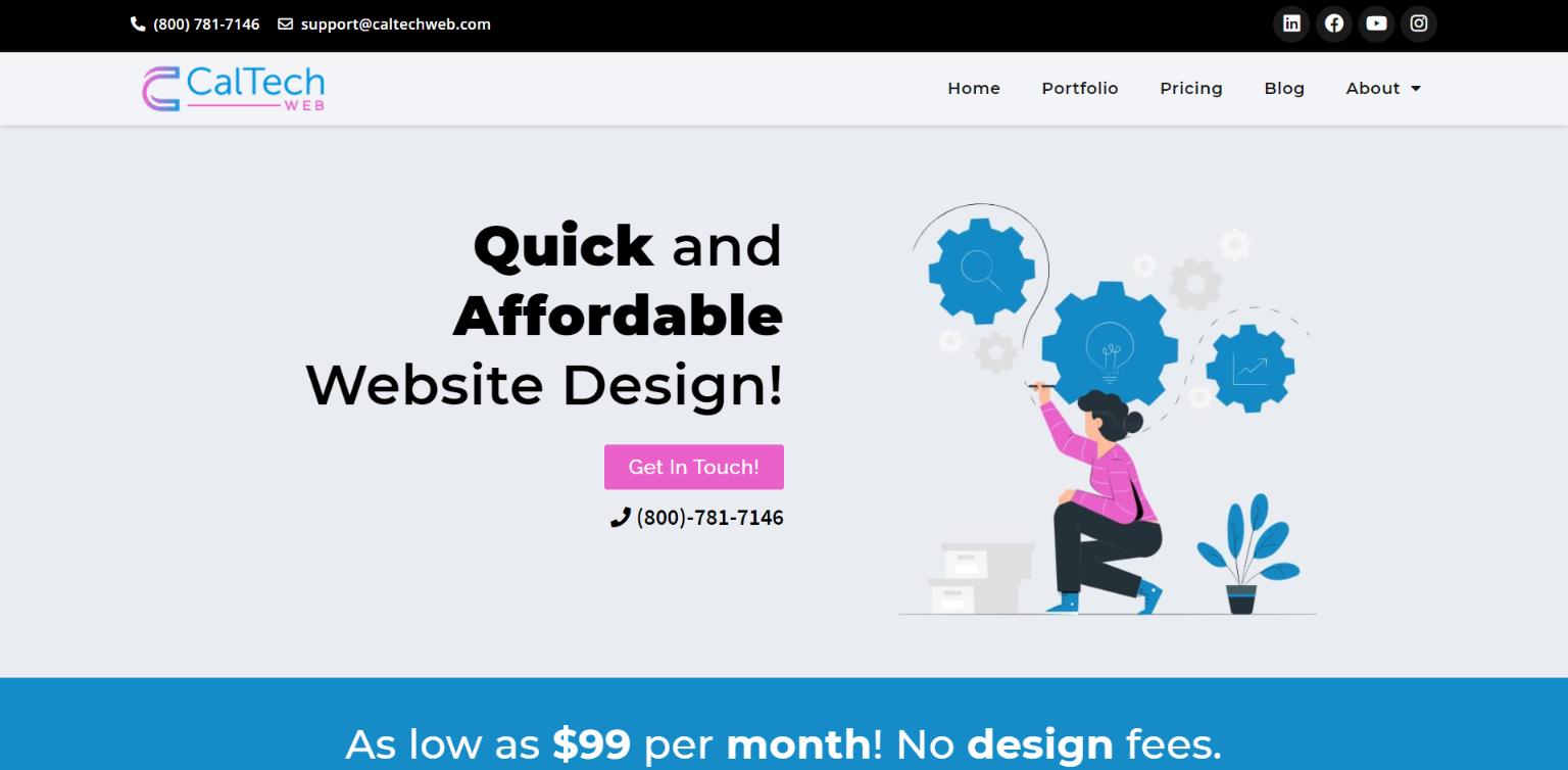 Best Affordable WordPress Development Company - CalTech Web