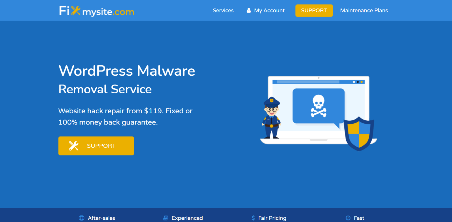 WordPress Malware Removal Services - Fix My Site
