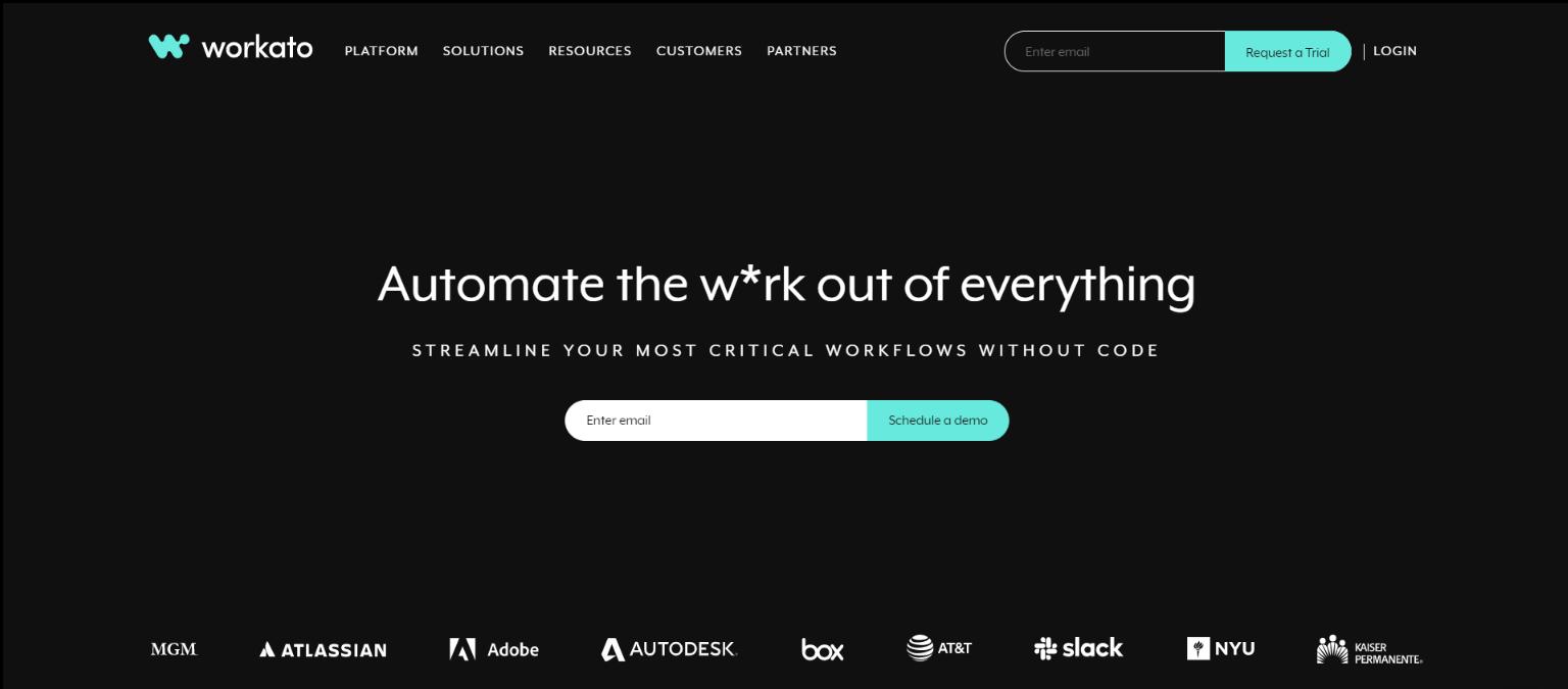 Zapier Alternatives - Workato